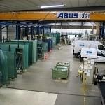 Atelier de production à wavre: Zone de stockage du verre