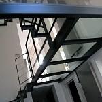 Dalle de sol (planché) en verre feuille découpé en nos ateliers